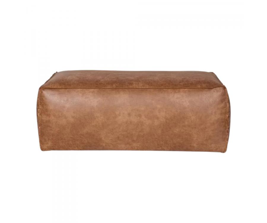 Grand pouf rétro cuir 120x43cm COLORADO