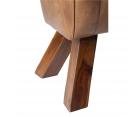 Banc design cheval d'arçon cuir et bois HORSE - 87 cm