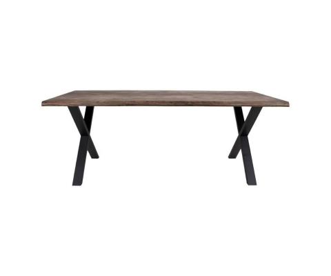 Table à manger en bois 200x95x76cm ZALIPA