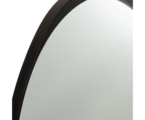 Miroir contemporain contour effet bois noir RAPHAEL