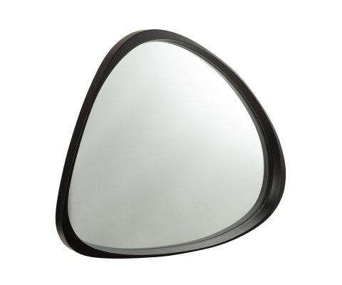 Miroir moderne contour bois noir RAPHAEL