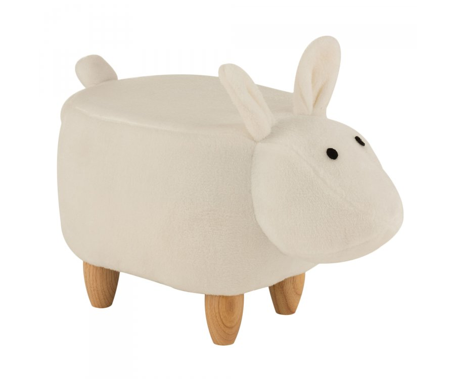 Pouf enfant mouton en tissu beige TOM