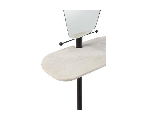 Miroir avec plateau marbre blanc VICTOR
