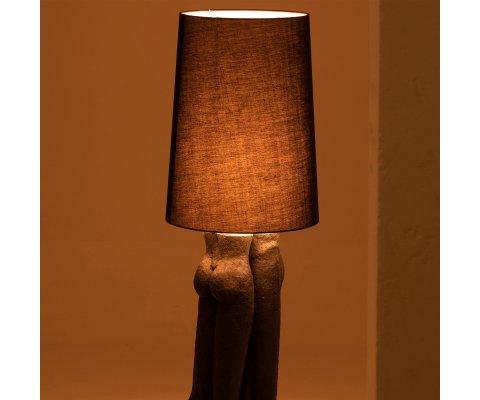Lampadaire moderne en résine noir DIEGO