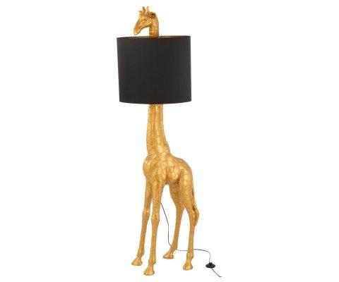Lampadaire forme girafe en résine doré ETOSHA