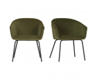Lot de 2 chaises en velours design JULY