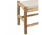 Tabouret bas 45cm bois naturel avec coussin WODY - J-line