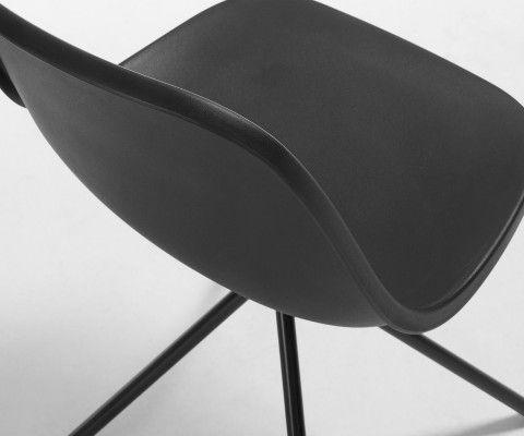 Chaise salle à manger métal gris NOPIL