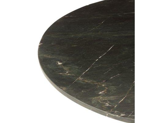 Table à manger ronde 120cm en marbre noir ANKARA