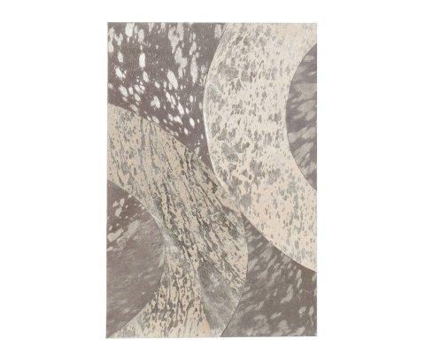 Tableau moderne 40x60cm en cuir gris et argent ISAAC
