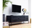 Console TV moderne bois massif 180cm SILAS - Woood