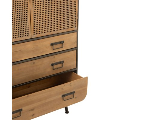 Armoire moderne effet cannage CHERIE