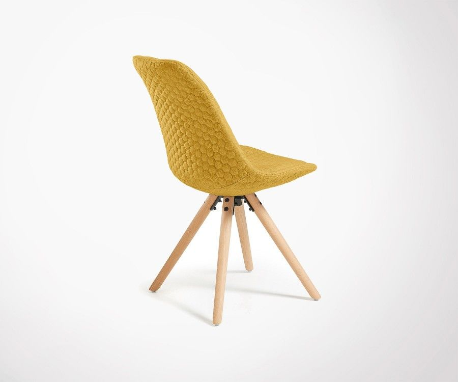 Chaise Design Salle A Manger Tissu Matelasse Plusieurs Couleurs