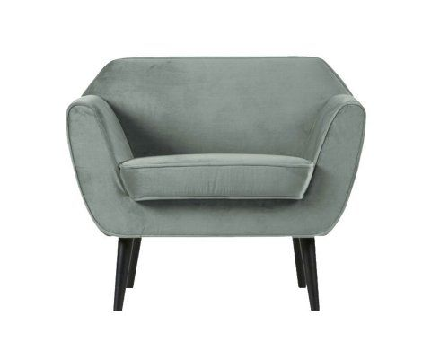 Fauteuil tissu velours style scandinave FREUD