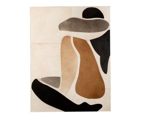 Tableau contemporain art abstrait 90x120cm BARRIO