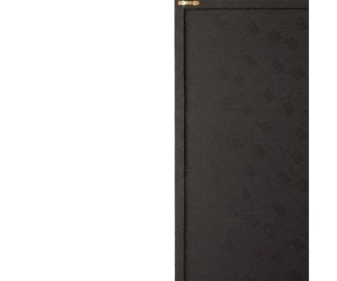 Tableau contemporain 40x60cm en cuir noir et doré ISEC