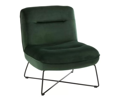 Petit fauteuil nordique en velours EVALI