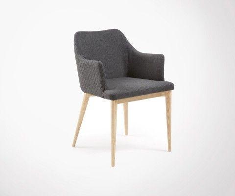 Chaise avec accoudoirs tissu DIANA