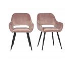 Lot de 2 chaises design en velours JELL
