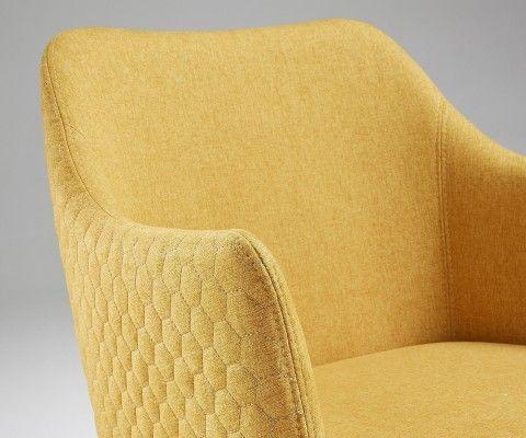 Chaise avec accoudoirs tissu gris foncé DIANA