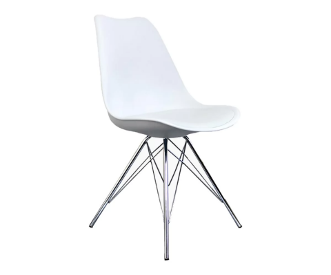Chaise design pied chrome GUSTAVE