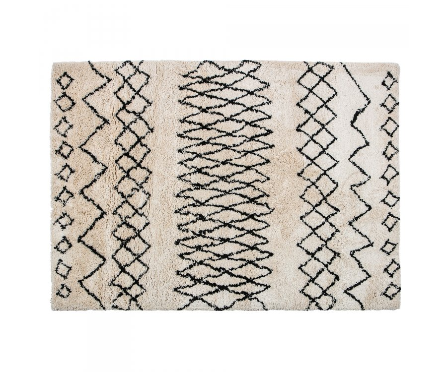 Tapis coton ethnique-TAREK