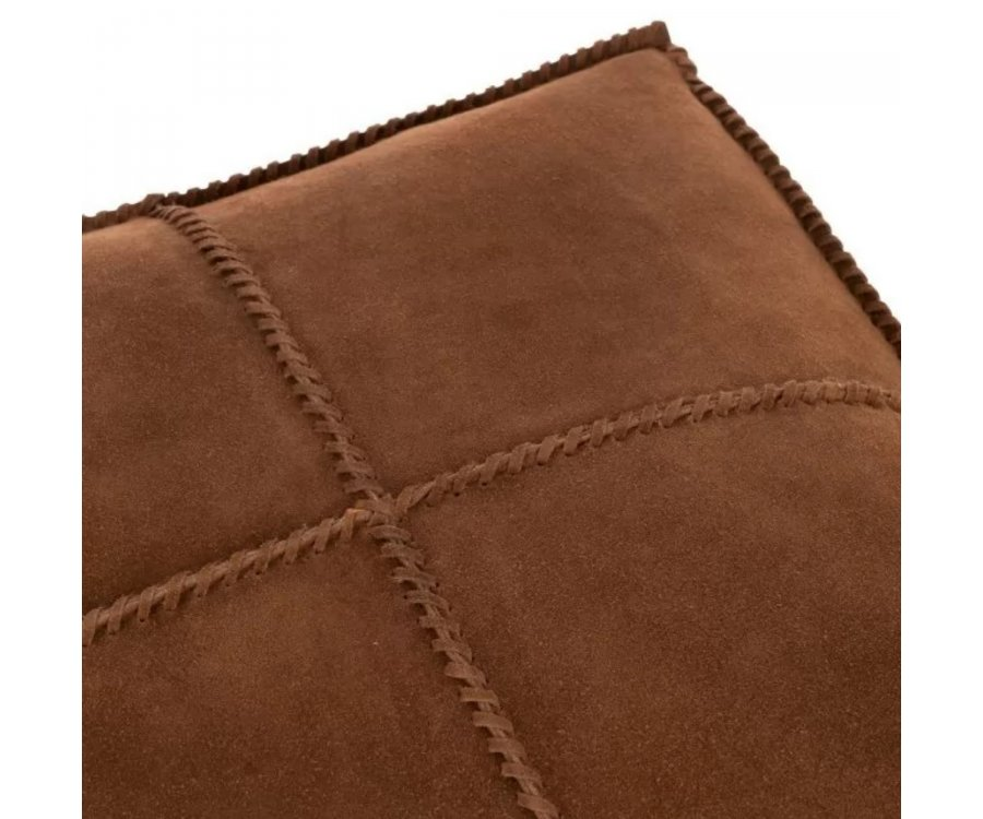 Pouf carrée cuir vintage-HULO
