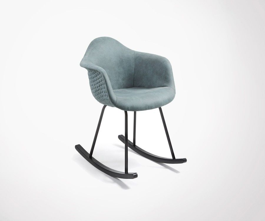 Upholstered Rocking Chair With Black Rocker Top Seller - Fauteuil rocking chair