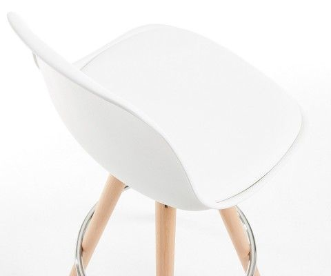 Chaise de bar coque plastique assise rembourrée GILI