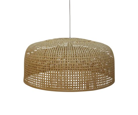 Suspension lampe naturel en bambou - BOUBA