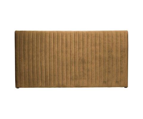 Tête de lit moderne 197cm en velours ochre MIELETTE