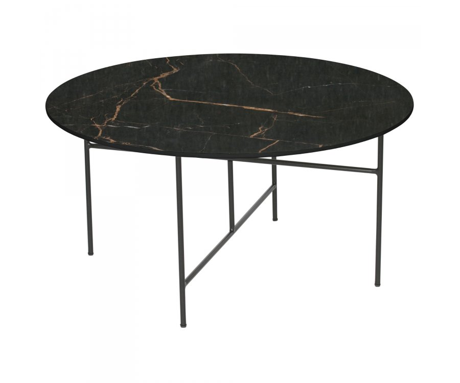 Table basse ronde 80cm aspect marbre VIDA