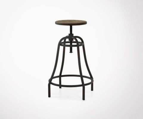 BUBU Industrial Metal Stool