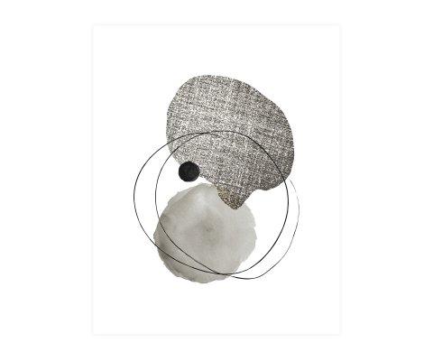 Poster abstrait neutre design - POPOS