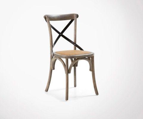 Chaise style campagne bois FARM