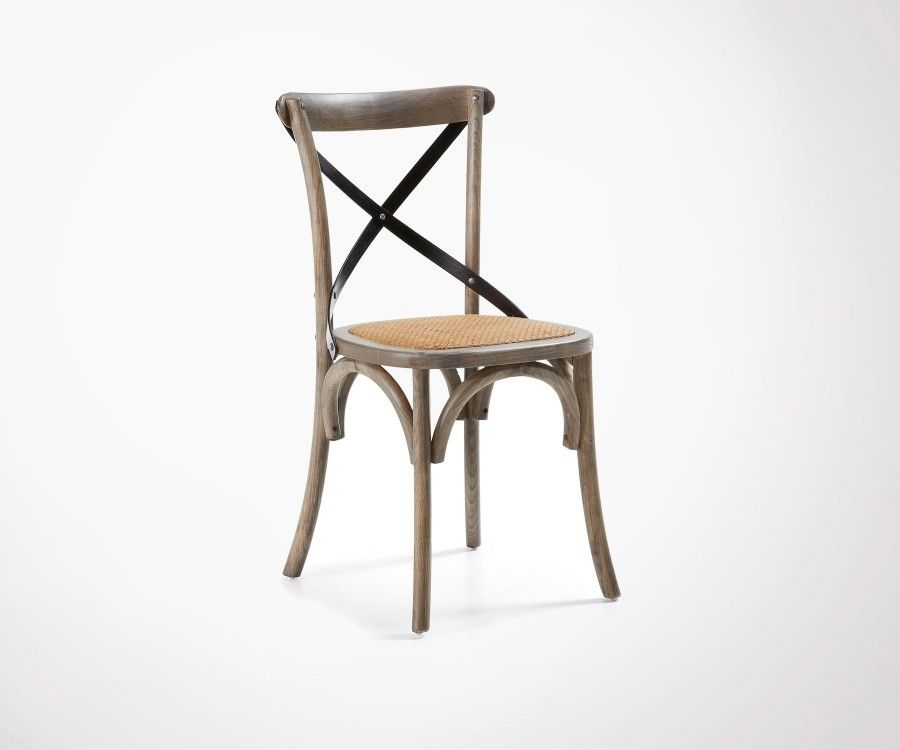Chaise style campagne bois blanc FARM