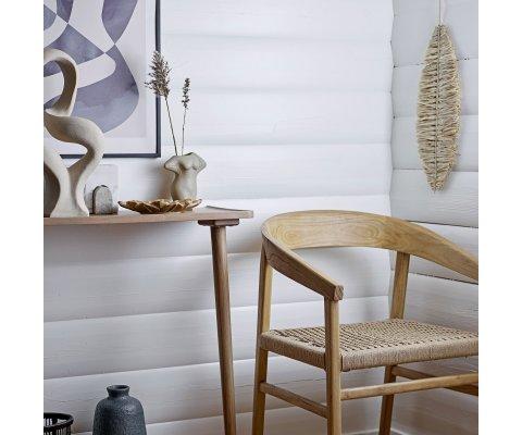 Chaise en bois naturel et corde POUPETTE