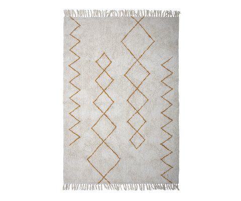 Tapis en coton avec motifs abstraits HUSO