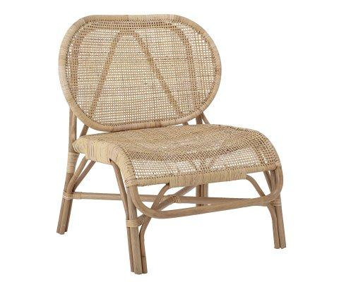 Chaise vintage en rotin naturel ROSALIE