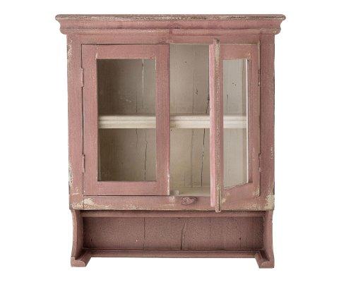 Petite armoire murale 2 portes en bois rose poudrée OCTAVIE