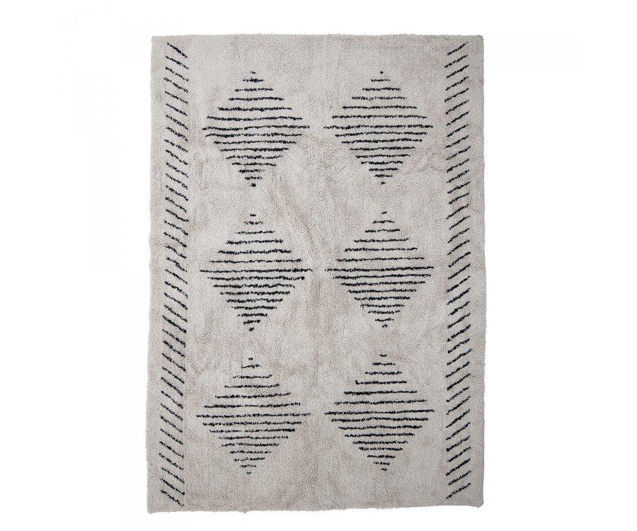 Tapis 200x140cm en coton à motifs JEGOR