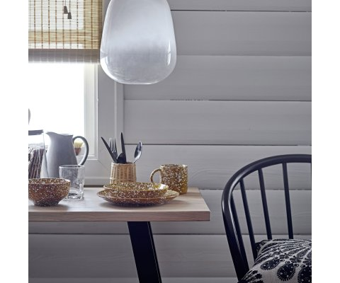 Chaise avec barreau en bois noir design NARNIA