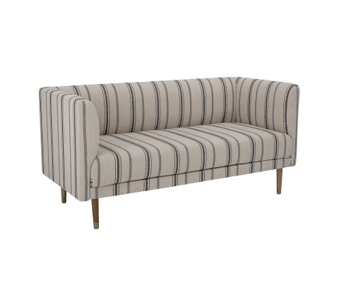 Canapé 3 places à rayures en tissu GASTON