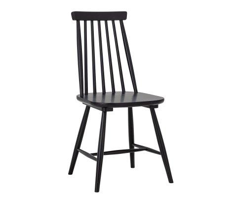 Chaise avec barreaux en bois noir DANIELLE
