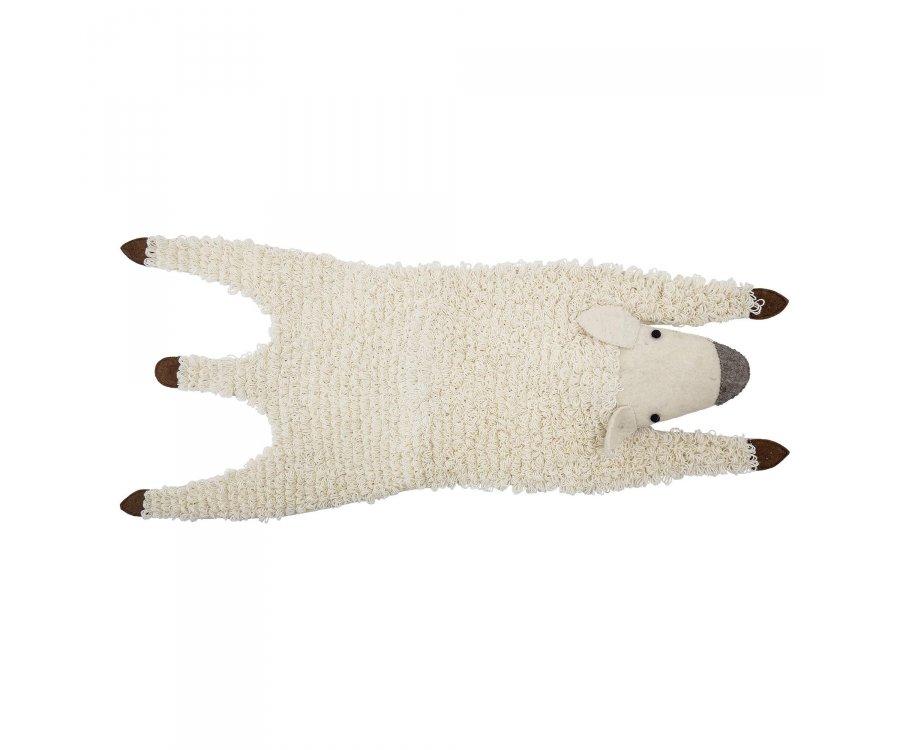 Petit mouton blanc en laine mignon décoratif BECKY