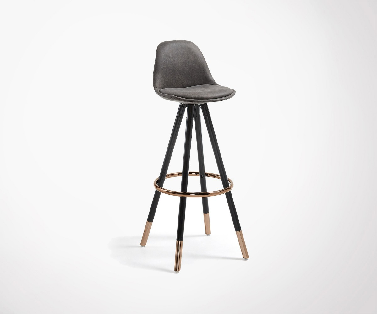 Upholstered Design Dining Barstool 2 Colors Copper Legs