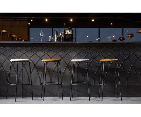 Lot de 2 tabourets de bar minimaliste en velours PAULSEN