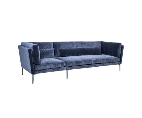 Canapé en velours 5 places bleu nuit REVEUR