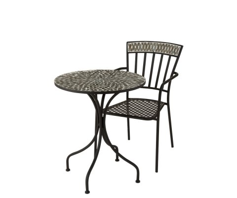 Petite table de jardin ronde en mosaïque BOGOTA