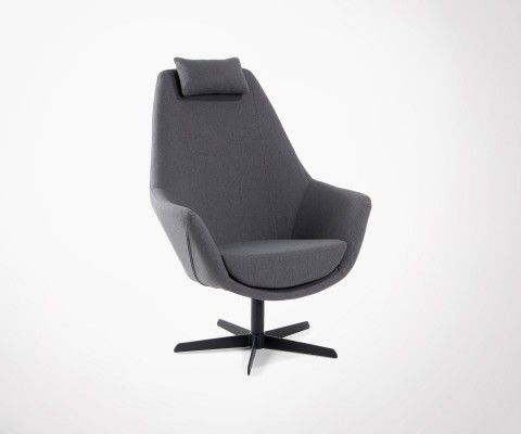 TRIBONO Grey Fabric Relax Lounge Chair